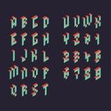 3d  pixel alphabet Stock Image