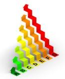 2d pixelization för affärsdiagram Royaltyfria Bilder