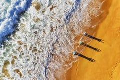 D plaży twarzy 2 morza odgórnego puszka ludzie obrazy stock