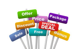 3d placard concept of special deal Royalty Free Stock Image