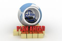 3d Plan Ahead Concept Royalty Free Stock Images