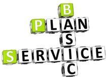3D Plan Basic Service Crossword Stock Image