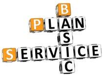 3D Plan Basic Service Crossword Stock Photography