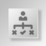 3D plan icon Business Concept Stock Image