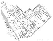 2D plan, mały miasta odzyskiwanie Obrazy Stock