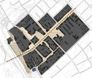 2d plan, remis, mały miasto Zdjęcie Stock