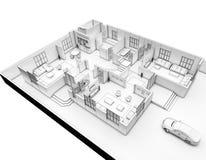 3D Plan Rendering Royalty Free Stock Images