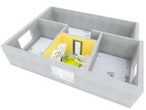 3D plan room Stock Photo
