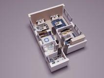 3D plan stock illustratie