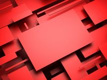 3d plane. abstract render Stock Photos