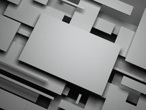 3d plane. abstract render Stock Photography