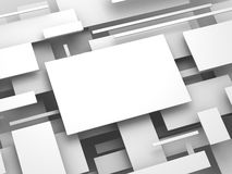 3d plane. abstract render Stock Images