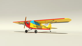 3D Plane. Render 3D Model Low Poly Plane royalty free illustration