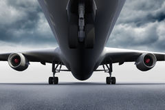 3D plane standing on the ground Royalty Free Stock Photography