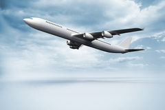 3D plane taking off. Kind of amazing Amazing 3D plane taking off Royalty Free Stock Image