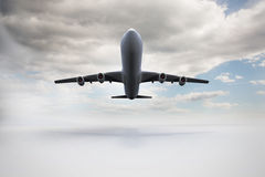 3D plane taking off. Kind of amazing Great 3D plane taking off Royalty Free Stock Photos