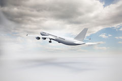 3D plane taking off Stock Images
