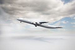 3D plane taking off. Kind of amazing Side view of a 3D plane taking off Royalty Free Stock Photography