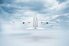 3D plane taking off Stock Photo