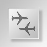 3D Planes icon Business Concept Stock Image