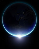 3D Planet Earth. Elements of this image furnished by NASA. Stock Images