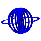 3D planet symbol on white background Royalty Free Stock Photography