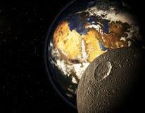 3D planeta w przestrzeni Fotografia Stock