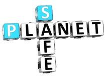 3D planety Bezpieczny Crossword ilustracji