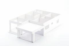 3D planhuis Royalty-vrije Stock Afbeeldingen