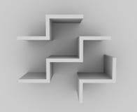 3D planken vector illustratie