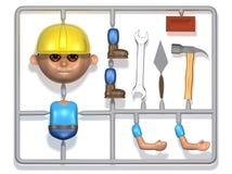 3d Plastic builder construction kit Royalty Free Stock Image