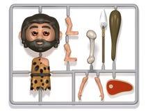 3d Plastic caveman construction kit Royalty Free Stock Photography
