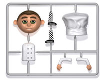 3d Plastic chef construction kit Stock Image