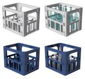 3D Plastic crate Stock Image