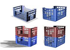 3D Plastic crate Royalty Free Stock Photo