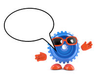 3d Plastic gear is talking Stock Photography