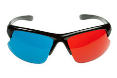 3d plastic glasses Royalty Free Stock Images