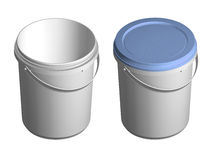 3D plastic pail Royalty Free Stock Photos