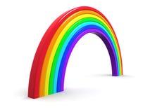 3d Plastic rainbow Stock Photo