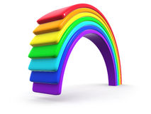3d Plastic rainbow Royalty Free Stock Images