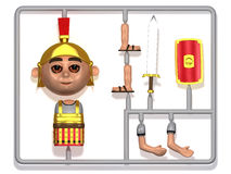 3d Plastic Roman centurion construction kit Stock Photography