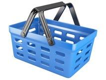 3d plastic shopping basket Stock Photography