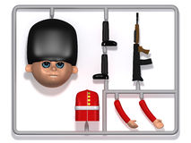 3d Plastic soldier construction kit Stock Images