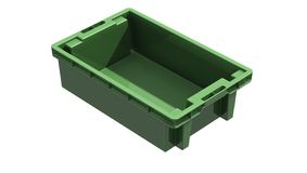 3D plastic solid crate Royalty Free Stock Photo
