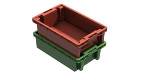 3D plastic solid crate Stock Photo