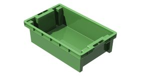 3D plastic solid crate Royalty Free Stock Images