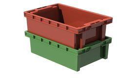 3D plastic solid crate Stock Photography