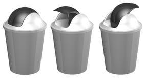 3D plastic toilet bin Stock Image