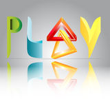 3-D play logo Royalty Free Stock Photography