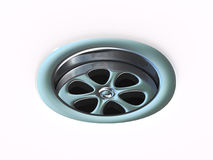 3d Plug hole drain Royalty Free Stock Images